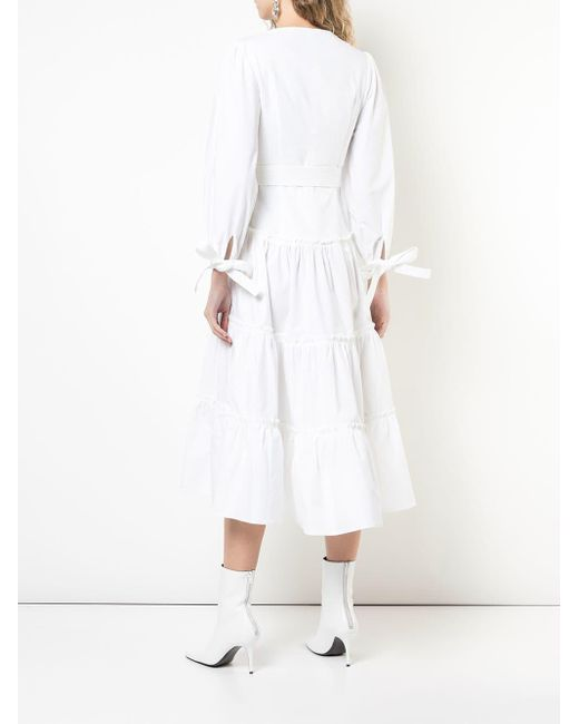 Proenza Schouler パフスリーブ ドレス White