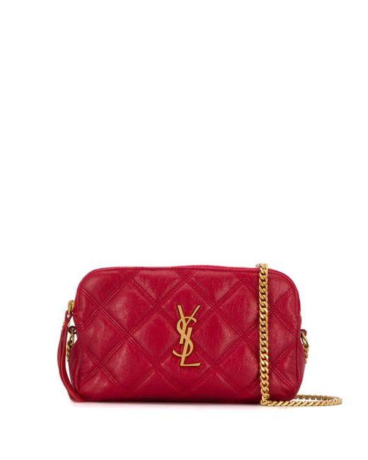 Кожаная Сумка Becky Saint Laurent, цвет: Red