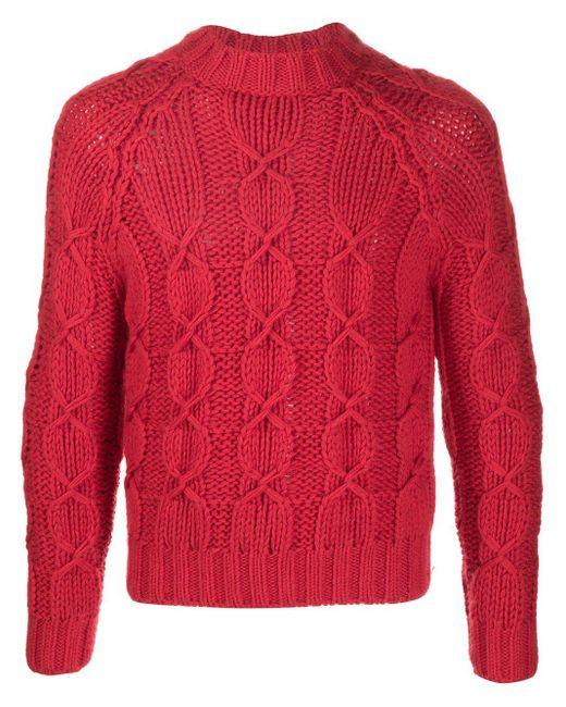 メンズ Saint Laurent ニット セーター Red
