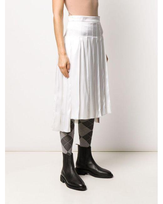 Thom Browne ドロップバック プリーツスカート White
