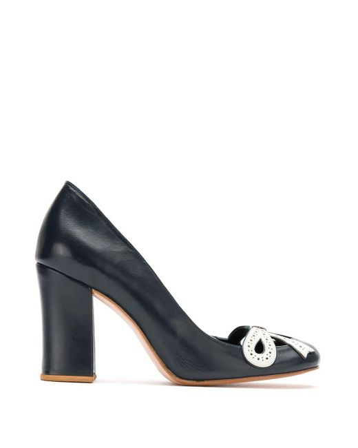 Sarah Chofakian Leather Pumps Blue