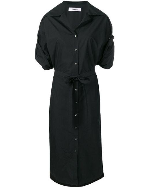 Chalayan Poplin Shirt Dress Black