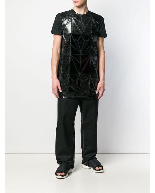 Rick Owens Strukturiertes T-Shirt in Black für Herren