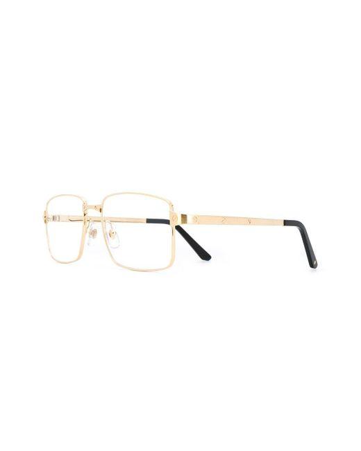 Cartier Metallic Eckige Brille