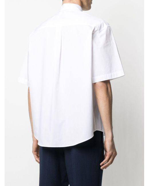 AMI Button-down-Hemd aus Popeline in White für Herren