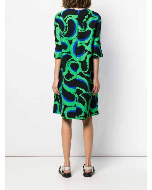 Abstract Print Dress Marni, цвет: Green