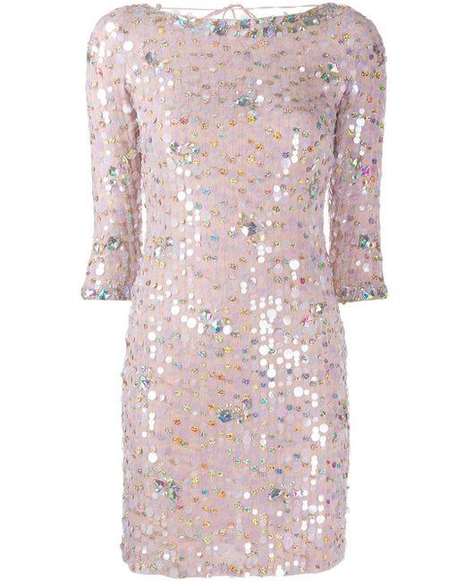 Blumarine Paillette ドレス Pink