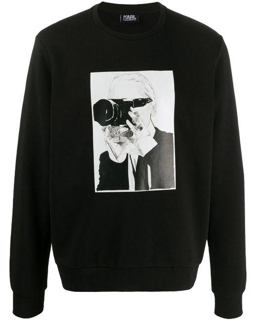 メンズ Karl Lagerfeld Karl スウェットシャツ Black
