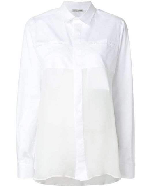 Each x Other - White Concealed Pocket Shirt - Lyst