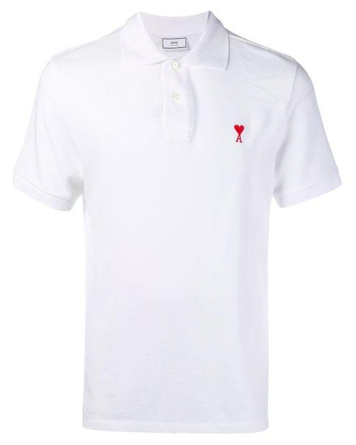 メンズ AMI Ami De Coeur ポロシャツ White