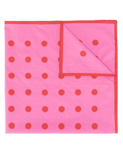 Holland & Holland ドット スカーフ Pink