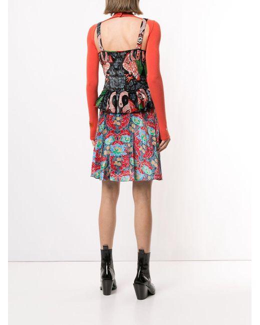 Платье Pre-owned С Абстрактным Принтом Louis Vuitton, цвет: Multicolor