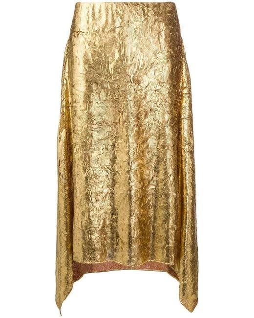Sies Marjan - Metallic Asymmetric Skirt - Lyst