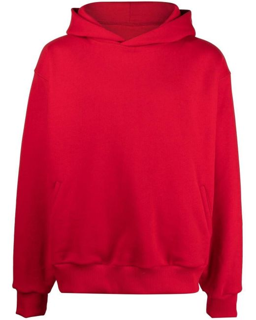Styland ロゴパッチ パーカー Red