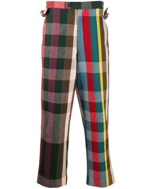 メンズ Bode Workshop Plaid ストレートパンツ Multicolor
