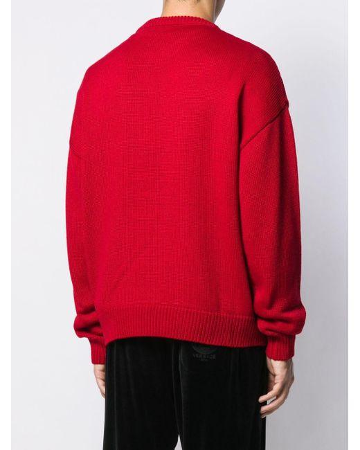 メンズ Gcds ロゴ セーター Red