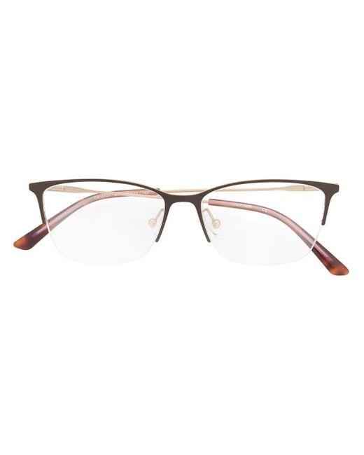 Очки В Квадратной Оправе Calvin Klein, цвет: Brown