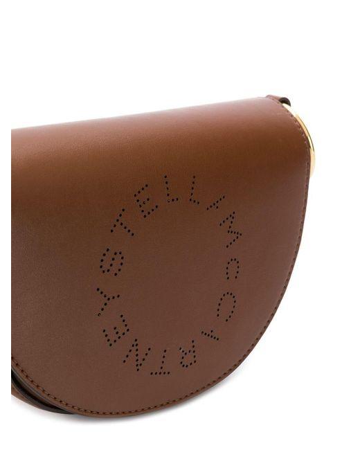 Полукруглая Сумка Stella Logo Stella McCartney, цвет: Brown