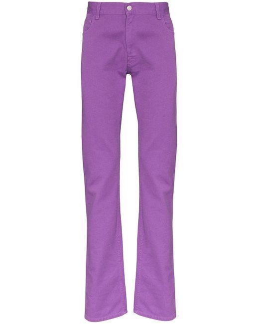 メンズ Raf Simons スリムジーンズ Purple