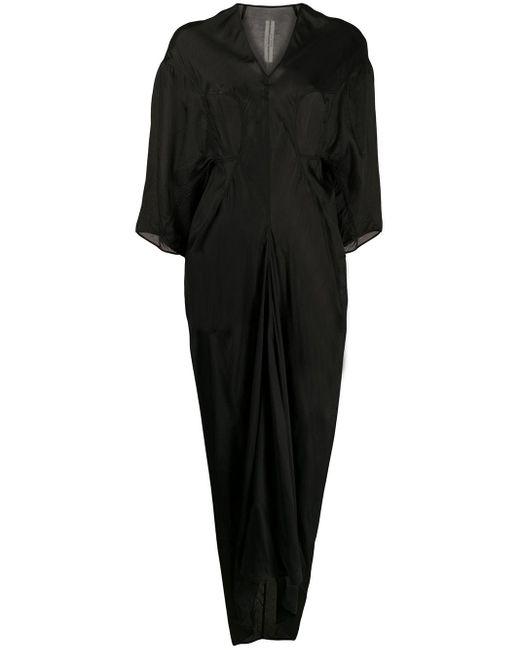 Rick Owens パネル ドレープドレス Black