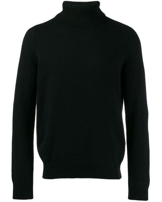 Pull en cachemire à col roulé Saint Laurent pour homme en coloris Black