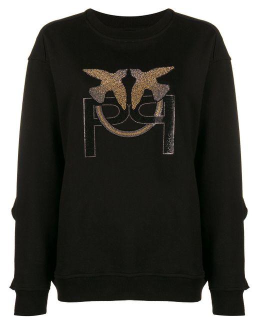 Толстовка С Декорированным Логотипом Pinko, цвет: Black