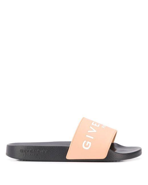 29518ddf3768 ... Givenchy - Multicolor Logo Slides - Lyst ...