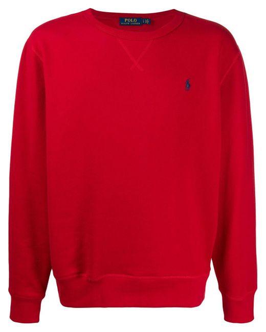 メンズ Polo Ralph Lauren ロゴ スウェットシャツ Red
