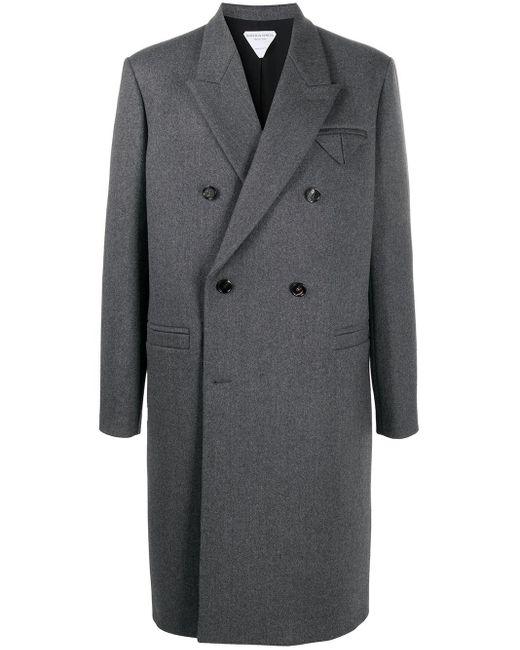 Двубортное Пальто Bottega Veneta для него, цвет: Gray