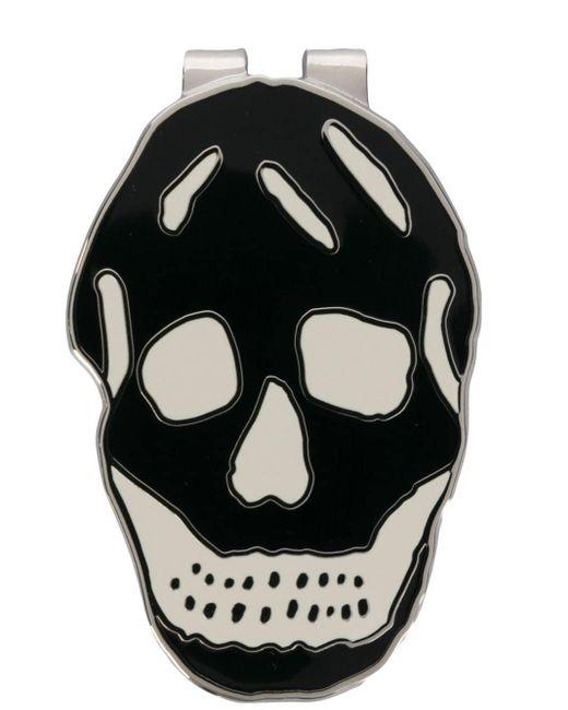 Boutons de manchette à motif tête de mort Alexander McQueen pour homme en coloris Black