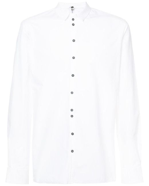 Label Under Construction - White Buttoned Slim-fit Shirt for Men - Lyst