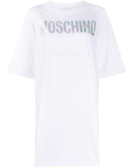 Moschino ロゴ Tシャツワンピース White
