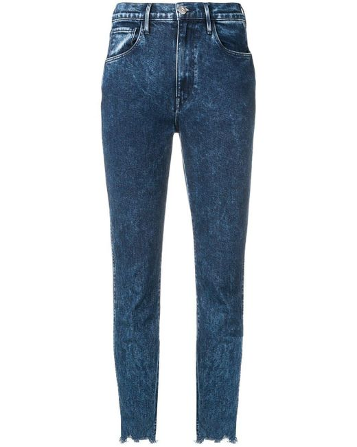 3x1 Blue Cropped Skinny Jeans