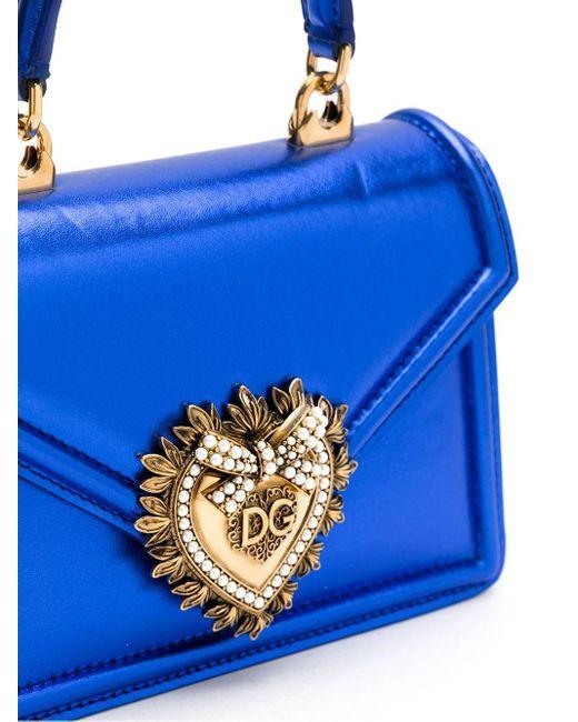 Dolce & Gabbana Devotion ハンドバッグ ミニ Blue