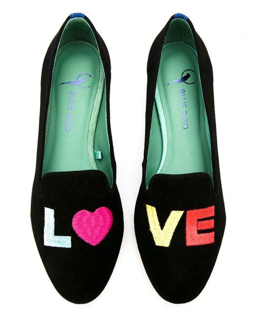 Blue Bird Shoes Love Colors ローファー Black