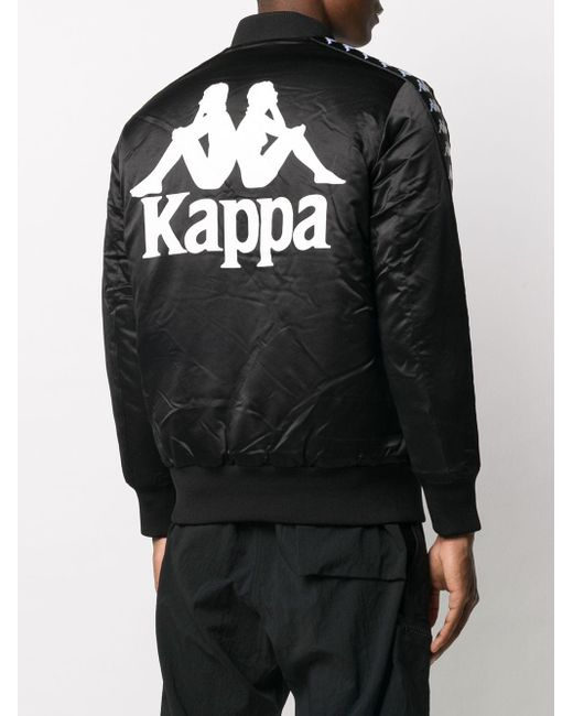 メンズ Kappa ロゴ ボンバージャケット Black