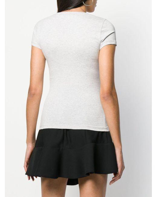 T-shirt Love Mode Love Moschino en coloris Gray