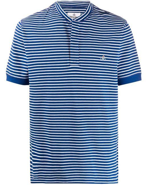メンズ Vivienne Westwood ストライプ Tシャツ Blue