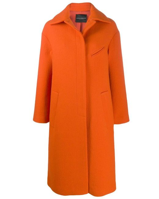Erika Cavallini Semi Couture オーバーサイズ シングルコート Orange