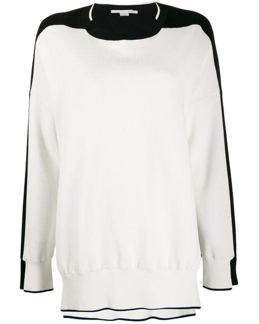 Stella McCartney バイカラー セーター White