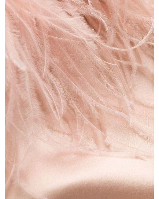 Gilda & Pearl フェザーカフス ガウン Pink