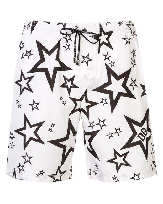 メンズ Dolce & Gabbana プリント トランクス水着 Multicolor