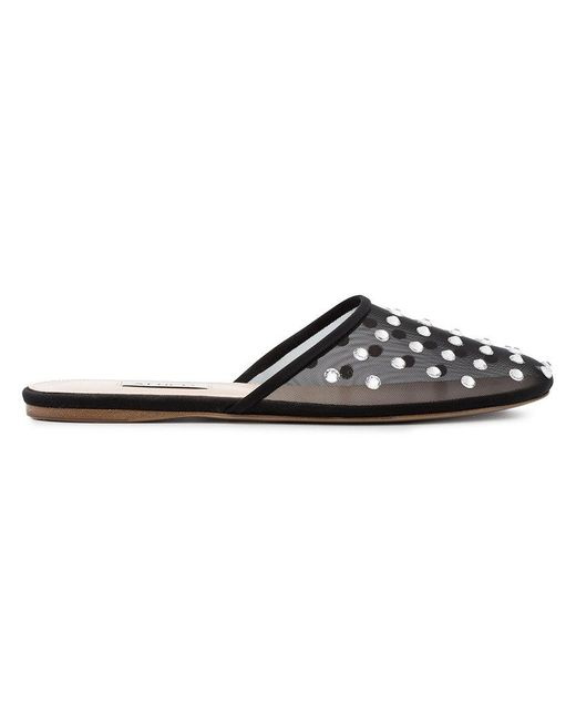 ATTICO Embellished Mesh Gina Slippers in Buy Cheap Footaction KS4yT