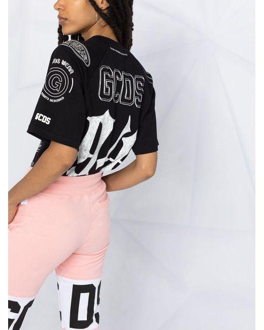 Gcds スローガンプリント Tシャツ Black