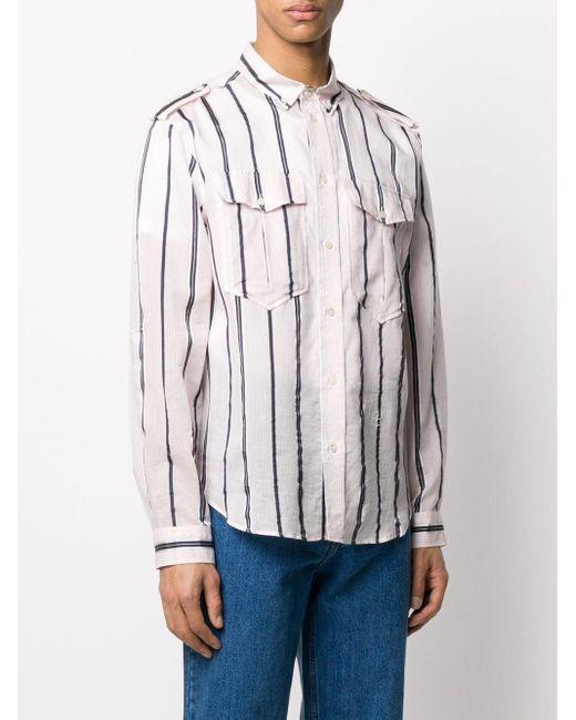 メンズ Isabel Marant ストライプ ボタン シャツ Pink