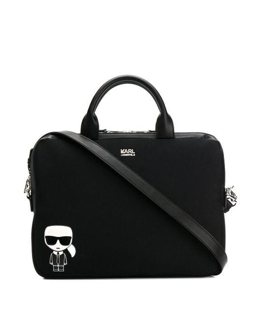 Karl Lagerfeld Black K/ikonik Laptop Sleeve