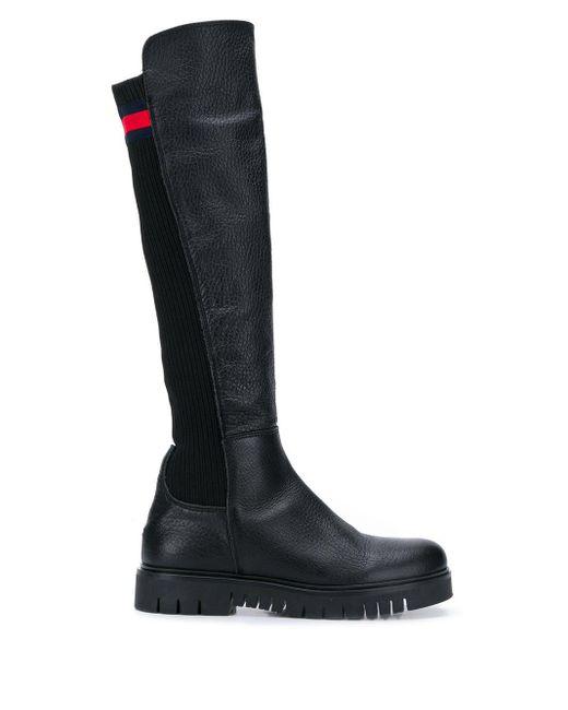 Tommy Hilfiger Black Knee-high Boots