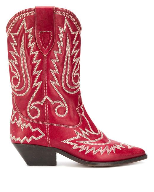 Isabel Marant Duerto Texan ブーツ Red