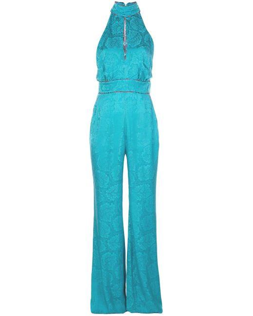Mary Katrantzou フローラル ジャンプスーツ Blue