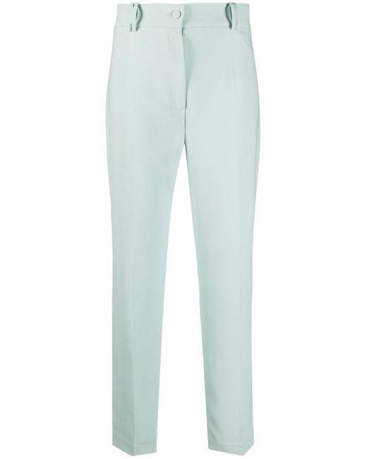 Pantalones de vestir rectos HEBE STUDIO de color Green
